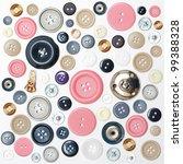 various sewing buttons | Shutterstock . vector #99388328