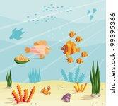 Illustration Of An Underwater...