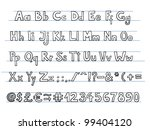hand drawn doodle style font.
