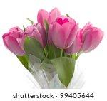 pink tulip bouquet | Shutterstock . vector #99405644