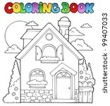 coloring book house theme image ... | Shutterstock .eps vector #99407033