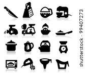 kitchen utensil icons set  ...   Shutterstock .eps vector #99407273