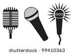 vector classic microphones... | Shutterstock .eps vector #99410363