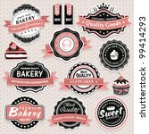 collection of vintage retro... | Shutterstock .eps vector #99414293