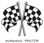 two crossed racing checkered... | Shutterstock .eps vector #99417239