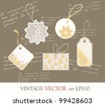 collection of cute vintage...   Shutterstock . vector #99428603