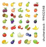 illustration of fruit on white... | Shutterstock .eps vector #99432548