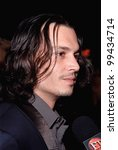 Постер, плакат: Actor JOHNNY DEPP at