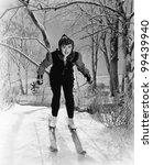 portrait of female skier | Shutterstock . vector #99439940