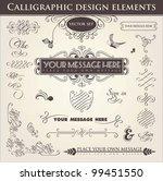 calligraphic design elements | Shutterstock .eps vector #99451550
