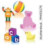 toy collection eps 8 vector ... | Shutterstock .eps vector #99453170