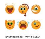 set of various vector emoticons | Shutterstock . vector #99454160