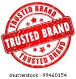 trusted brand stamp | Shutterstock . vector #99460154