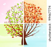four seasons | Shutterstock .eps vector #99467774