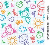 hand drawn seamless pattern... | Shutterstock .eps vector #99472538