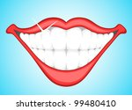 smiling teeth clip art | Shutterstock .eps vector #99480410
