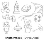 children toys vector set | Shutterstock .eps vector #99480908