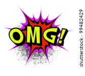 omg. comic book explosion. | Shutterstock . vector #99482429