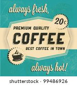 retro vintage coffee background ... | Shutterstock .eps vector #99486926