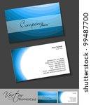 professional business card set  ... | Shutterstock .eps vector #99487700