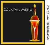 a vintage deco style  cocktail... | Shutterstock .eps vector #99496760