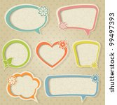 a set of colorful retro frames... | Shutterstock .eps vector #99497393