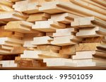Set Of Stacked Wood Pine Timber ...
