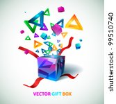 vector gift box | Shutterstock .eps vector #99510740