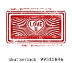 grunge rubber stamp in red... | Shutterstock .eps vector #99515846