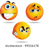 three funny faces | Shutterstock .eps vector #99526178