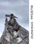 Sculpture Of Stone Grim Reaper