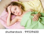 the girl fell ill with...   Shutterstock . vector #99539600