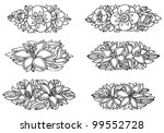 set of six vector flower... | Shutterstock .eps vector #99552728