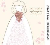 wedding dress doodle for...   Shutterstock .eps vector #99561950