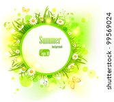 summer light background with ... | Shutterstock .eps vector #99569024