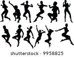 sexy  silouettes   Shutterstock .eps vector #9958825