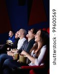 people laugh at the cinema | Shutterstock . vector #99600569