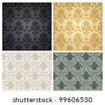 seamless damask wallpaper...   Shutterstock .eps vector #99606530