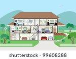 large detailed modern house... | Shutterstock .eps vector #99608288