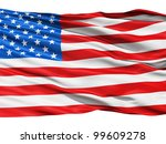 waving flag of america  usa  | Shutterstock . vector #99609278