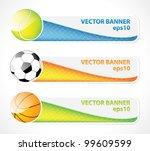 set of sport banners | Shutterstock .eps vector #99609599