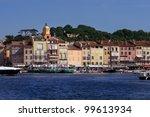 Saint Tropez coastline of mediterranean sea, France - stock photo