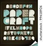 Vector Of Vintage Paper Craft...