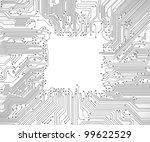 circuit board background vector   Shutterstock .eps vector #99622529