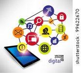 conceptual social networking... | Shutterstock .eps vector #99622670