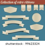 set of vector retro ribbons ... | Shutterstock .eps vector #99623324