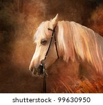 Horse Portrait. Simulation Of...