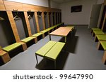 GDANSK, POLAND - FEBRUARY 4:  Players cloakroom of newly built PGE Arena stadium. The stadium was built specifically for the Euro 2012 Championship. February 4, 2012 in Gdansk, Poland. - stock photo
