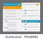 vector web design navigation... | Shutterstock .eps vector #99648083