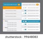 vector web design navigation... | Shutterstock .eps vector #99648083